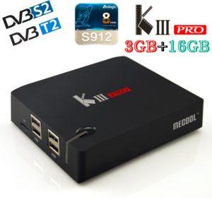 Android tv box-KIII Pro 4 К DVB-S2/T2-3G RAM 16 G FLASH