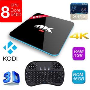 H96 Pro + TV BOX Android 7.1 HD RAM-3GB ROM 16 GB