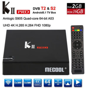 Android TV box-KII PRO 4k DVB-T2 DVB-S2 2G RAM 16 G FLASH