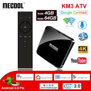 Android TV-Box-KM3 ATV DDR4 S905X2 4GB-64GB