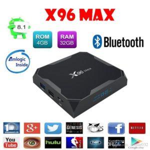 Androide TV BOX  X96 MAX 4K 4GB RAM 32GB ROM